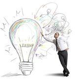 Ideia de negócio criativo — Foto Stock