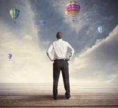 Biznesmen nadziei — Zdjęcie stockowe