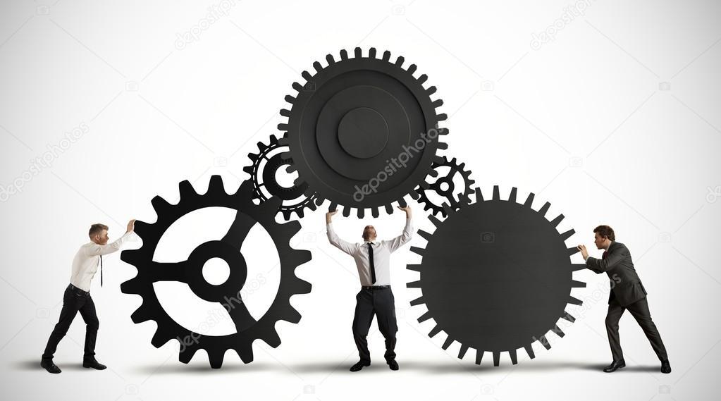 团队合作与齿轮传动系统的概念