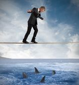 Concept of risk in business — Photo