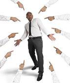 Biznesmen oskarżony — Zdjęcie stockowe