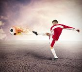 Football player power — Stock Photo