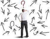 Svåra val för en affärsman — Stockfoto