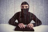 Hacker and computer virus concept — Stock Photo