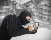 Hacker and password — Stock Photo