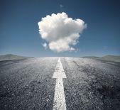 Suivre le droit chemin — Photo