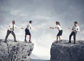 Concurso de equipo y negocios — Foto de Stock