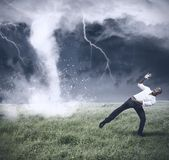 Crisis and business storm — Stock Photo