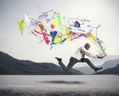 Fast creative business — Stock Photo