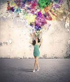 Esplosione di moda e creatività — Foto Stock