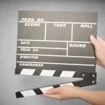 Movie clapper board — Stock Photo