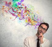 Ciekawy pomysł, biznesmen — Zdjęcie stockowe