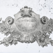 Stock Photo: Antique silver emblem