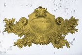 Antique golden emblem — Stock Photo