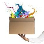 kreativní box — Stock fotografie