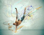 Modern dancer — Stock Photo
