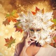 Carnival fashion autumn woman — Stock Photo