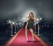 Celebrity on red carpet — Stock Photo