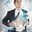 Stockfoto: Super hero businessman