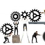 Teamwork of businesspeople — Stock Photo #28778145