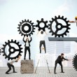 Teamwork of businesspeople — Stock Photo