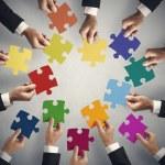 Teamarbeit und Integration-Konzept — Stockfoto