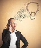 Podnikatelský nápad — Stock fotografie