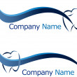 Dental logo company name — Vector de stock #29925571
