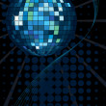 Shiny disco ball — Stock Vector