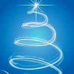 abstrakt julgran — Stockvektor