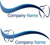 Dental logo company name — Stock Vector