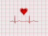 Noção de eletrocardiograma do coração humano — Vetorial Stock