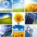 New energy collage — Stock Photo