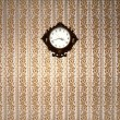 Clock in a vintage room — Foto de Stock