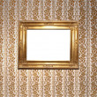 Stock Photo: Gold vintage square