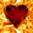 Burning heart — Stock Photo #29935565