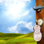 Door to green world — Stock Photo #29936081