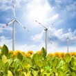Wind turbine field — Stock Photo