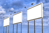 Big Blank Billboards — Stock Photo