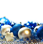 Blue and silver Christmas background — Stock Photo
