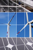 Clean energy collage — Stock Photo