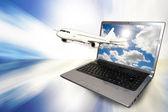 Internet und reisen — Stockfoto