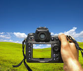 Photographing landscape — Stock Photo