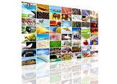 Tv screen composition — Stock Photo