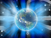 Abstract earth blue power energy — Stock Photo