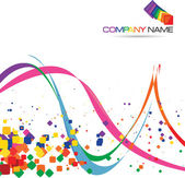 Abstract background for Company Slogan — Stockvector