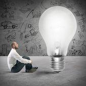 Nowy pomysł biznesmena — Zdjęcie stockowe
