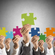 Stock Photo: Teamwork and integration concept