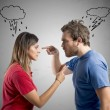 Discussion between husband and wife — Stock Photo #34348367