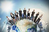 Global business team — Stock Photo